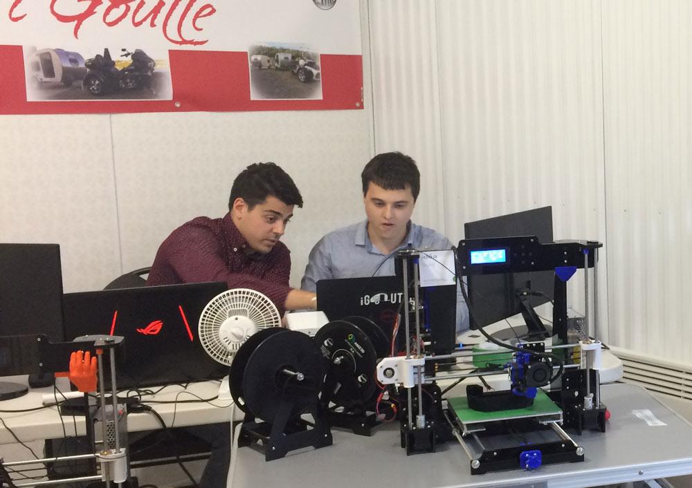 Micro-Roulotte iGoutte travail en atelier