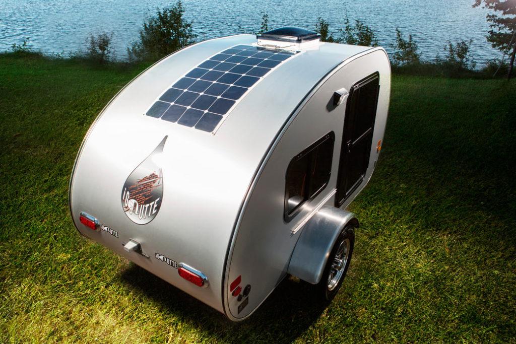 Micro-roulotte iGoutte panneau solaire